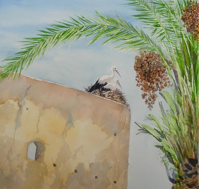 Maroc - Aquarelle