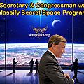 ➡️Le secrétaire et membre du <b>Congrès</b> de l'USAF veut déclassifier les programmes spatiaux secrets