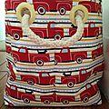 firetruck fabric storage basket