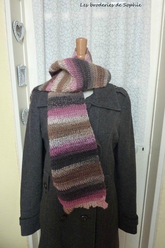 2 écharpes au crochet Big Delight (4)