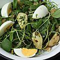 Salade de pourpier, rattes du touquet et câpres