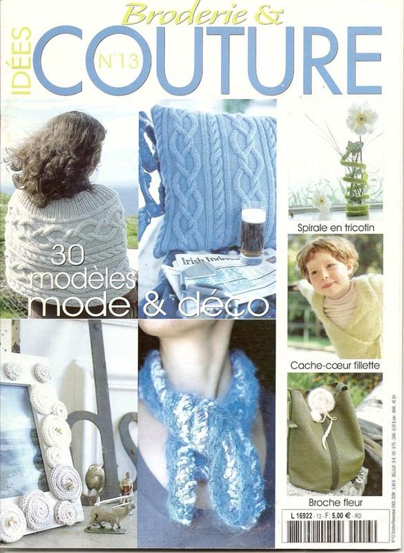 Idées broderie et couture 13 octobre novembre 2005