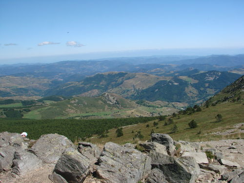 2008 08 21 Paysage vu depuis le sommet du Mont Mézenc