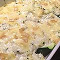 Courgettes farcies au riz et au reblochon