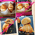 Pâte levée feuilletée (pour viennoiseries)appelé aussi pâte à <b>croissant</b> mais faites au companion et cuit au cake factory
