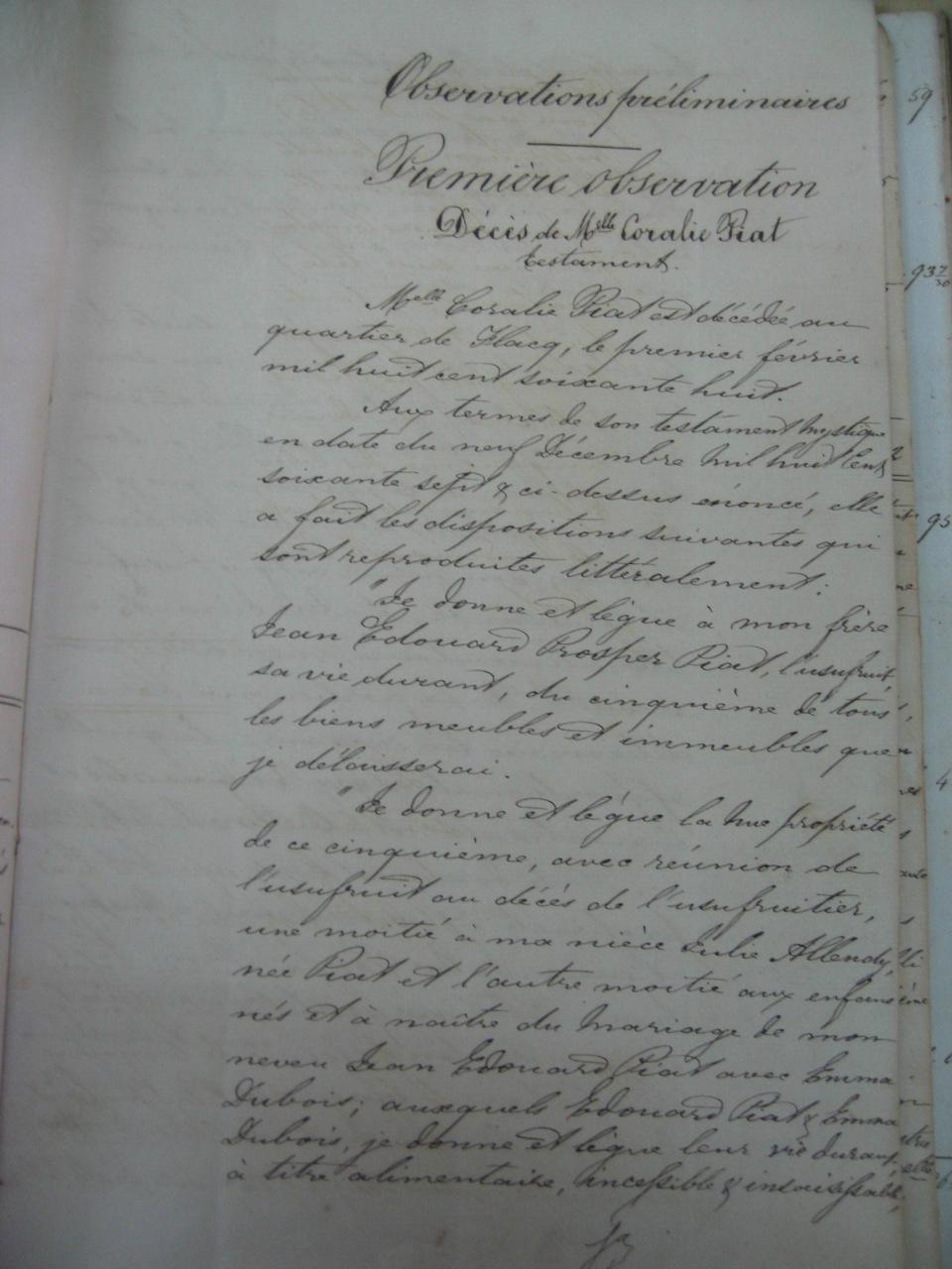 Piat Coralie_Testament 1867-1868