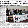 Les Restos du Coeur de Moselle-Est restent mobilisés.