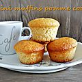 Muffins légers pomme coco