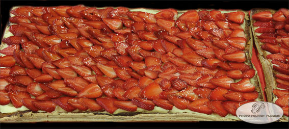 SAINTE_BAZEILLE_Fete_de_la_fraise_Tarte_geante_aux_fraises_