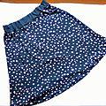 <b>Jupe</b> Femme Jersey Etoiles Violet-Parme Taille Unique <b>Jupe</b> Courte <b>Evasée</b>