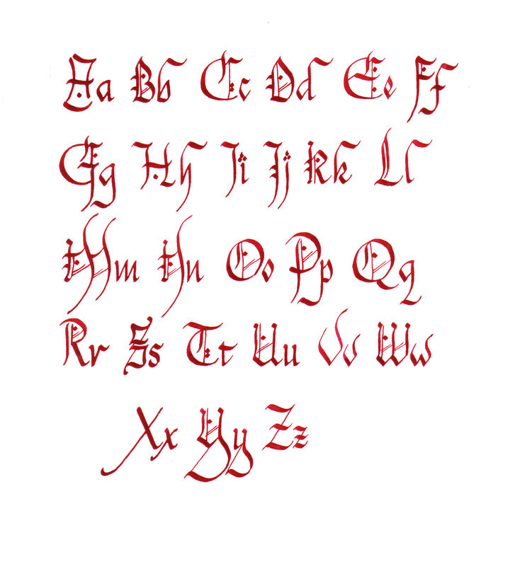Alphabet chanceli re l 39 association emily calligraphy - Lettre alphabet original ...