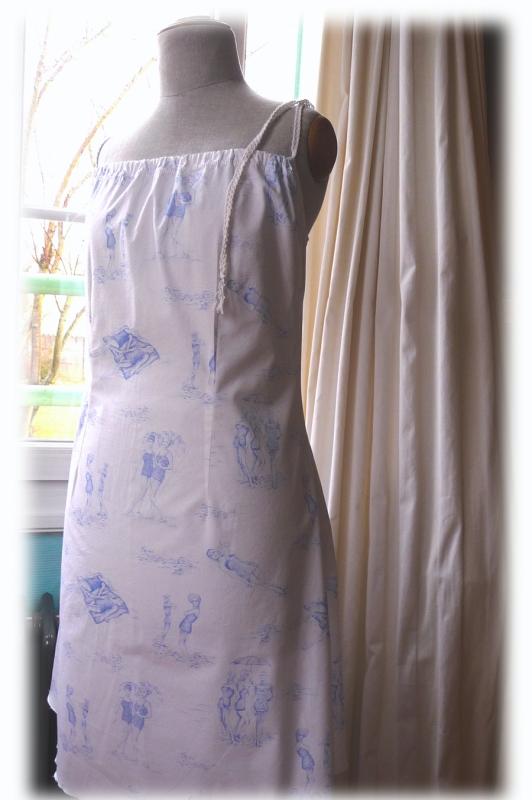 petite robe BS - tissu Anne Fontaine : les baigneuses 1930