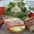 Salade de pommes de terre rôties au jambon cru