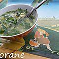 La soupe aux courgettes et à la menthe de mamie soupe