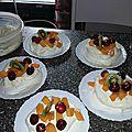La pavlova, un dessert facile et délicieux....
