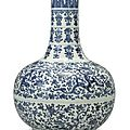A soft paste blue and white 'phoenix and kuilong' bottle vase, qing dynasty, yongzheng period (1723-1735)