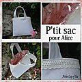 P'tit sac en lin pour Alice