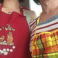 Gourmandises du dimanche- rouleaux de printemps à la mangue et poêlée de légumes croquants... en duo !
