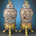 17th-Century Chinese <b>Imari</b> Porcelain Jars, Circa 1680
