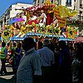 Défilé du Ratha Yatra Bd de la Chapelle.