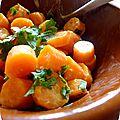 °salade de carottes cuites, cumin & coriandre°