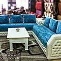 <b>Salon</b> <b>marocain</b> <b>moderne</b> bleu blanc 2014