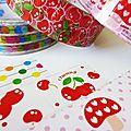 Lovely tape, décorez vos paquets cadeaux, cartes de voeux de noël