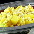 sauté de dinde au curry de madras, ananas & co