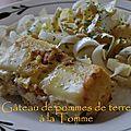 Gâteau de pommes de terre à la tomme