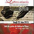 Lettres aimées, château de pibrac, 25 juin 2015, 21h