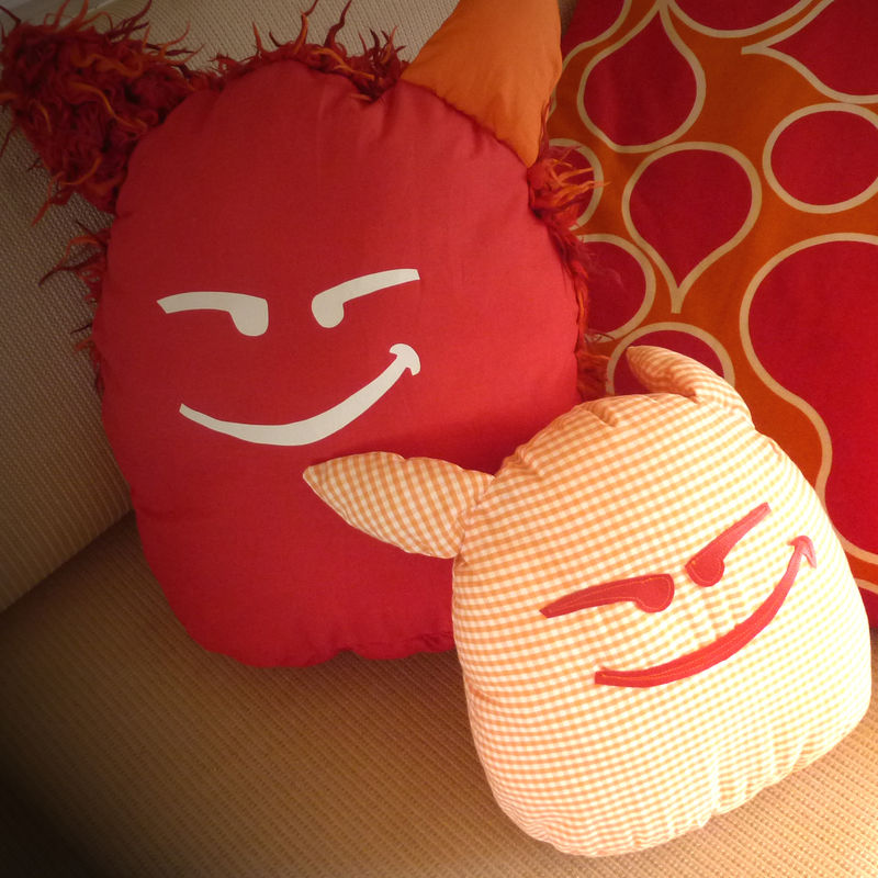 coussin poilu