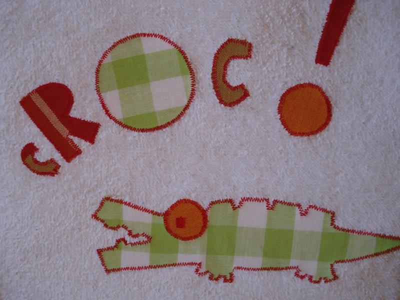bavoir croco