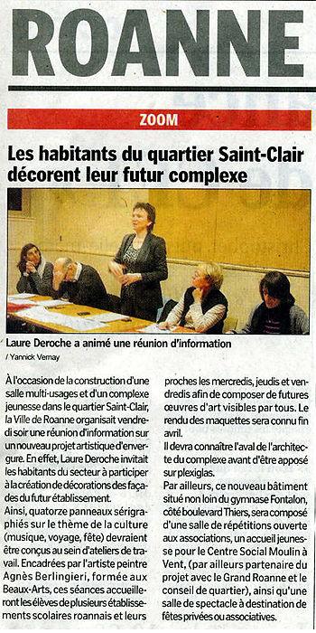 Réunion d'information en présence de Mme Le Maire et des différe