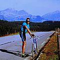 Montée à vélo d'albertville jusqu'au col des saisies,par hauteluce (savoie)