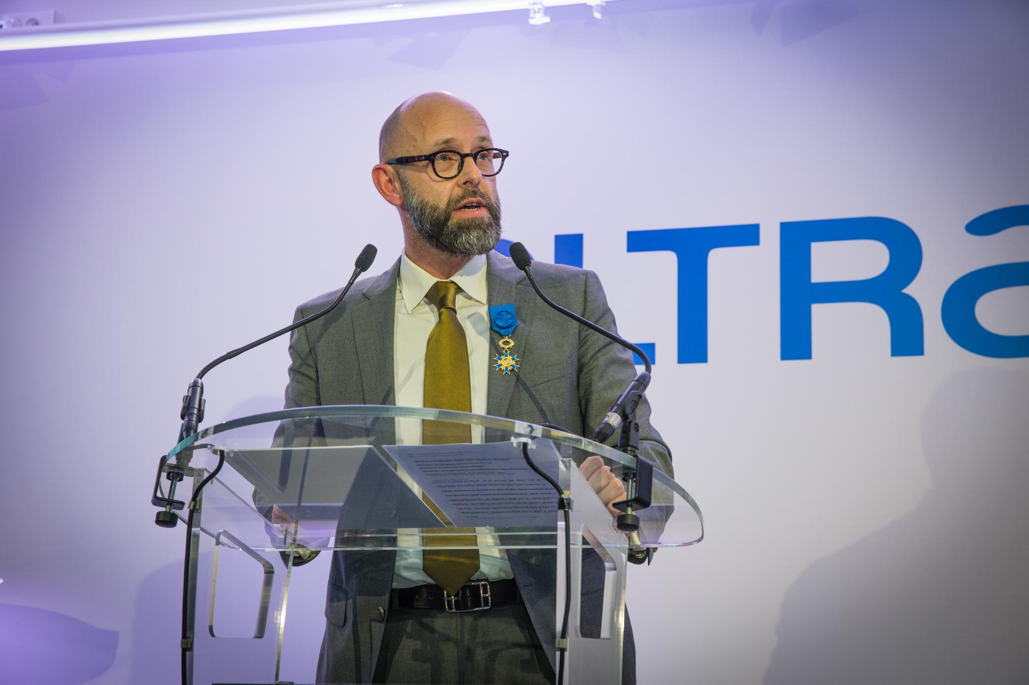 FREDERIC FOUGERAT RECOIT LES INSIGNES D'OFFICIER DE L'ORDRE NATIONAL DU MERITE