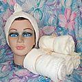Une tête pour mes serviettes sèche cheveux