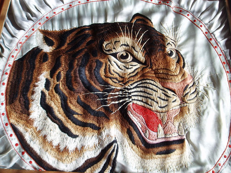 Broderie d'indochine ancienne