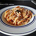 Spaghettis frais aux encornets