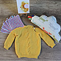[couture] [tricot][carterie] box naissance pour sophie