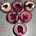Mousse de fruits rouges au mascarpone