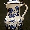 Blue and white ewer with cover, china, kangxi period (1662-1722)