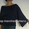 Haut à manches kimono