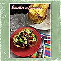 Corolle <b>mexicaine</b> : salade <b>mexicaine</b> dans sa coque de galette de maïs