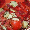 Salade de pommes de terre et viande des grisons