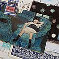 Art postal bleu