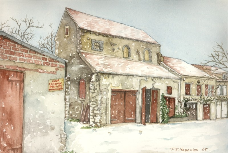 Le prieuré sous la neige - La Ferté Gaucher