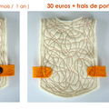 Plastron orange - 30 euros + frais de port
