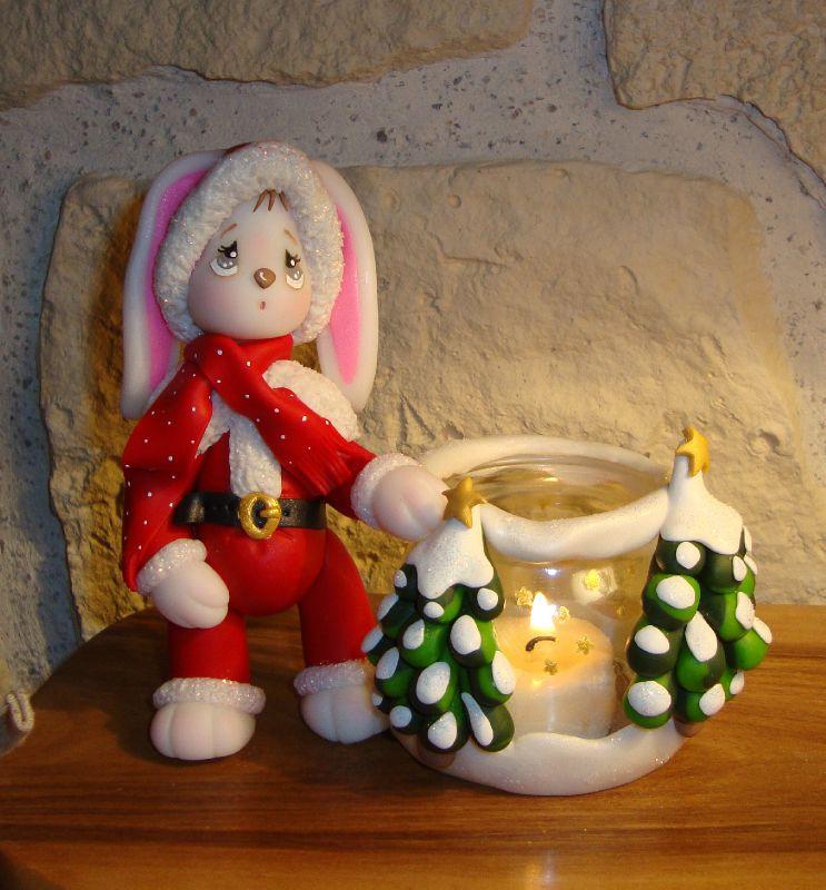 Lapinou de Noël en Cernit