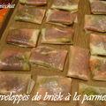 Enveloppes de brick craquantes à la parmesane, etc