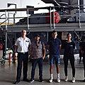 Visite du porte-avions Charles-de-Gaulle avec M. le Proviseur, des élèves <b>marins</b> et des enseignants du lycée Jean-Moulin